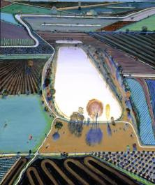 Wayne Thiebaud,  Ponds and Streams, 2001 Oil on canvas. 182.9 x 152.4 cm (72 x 60 in.) Museum purchase, gift of Richard N. and Rhoda Goldman 2001.168  IMAGE COURTESY OF FAMSF