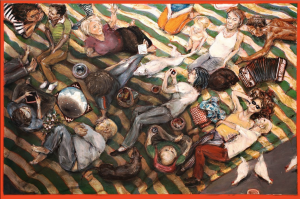 Evan Barbour, Overhead, 2015, Oil on canvas, 20 x 12 in.